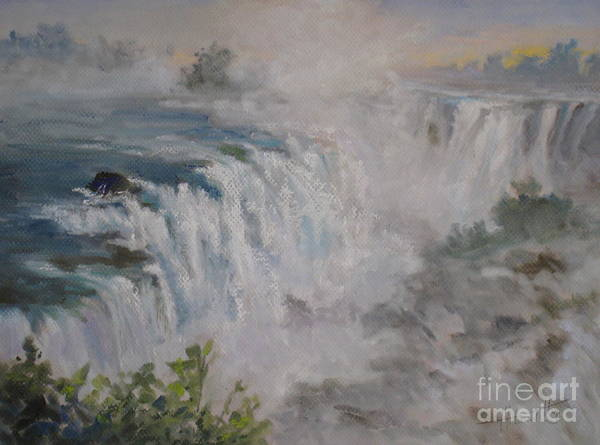 Spectacular Painting - Iguazu Falls by Mohamed Hirji