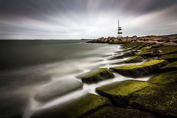 Silky Wall Art - Photograph - Ijmuiden Lighthouse by Sus Bogaerts