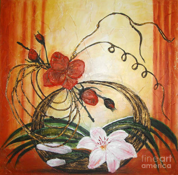 Acrilic Painting - Ikebana IIi by Elena  Constantinescu
