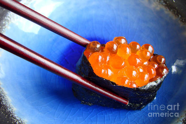 Asian Food Photograph - Ikura by Delphimages Photo Creations