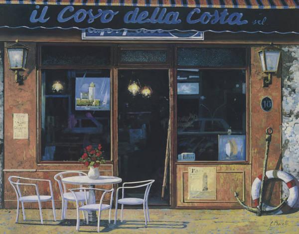 Caffe Wall Art - Painting - Il Covo Della Costa by Guido Borelli