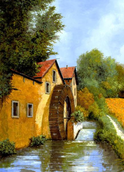 River Painting - Il Mulino Ad Acqua by Guido Borelli