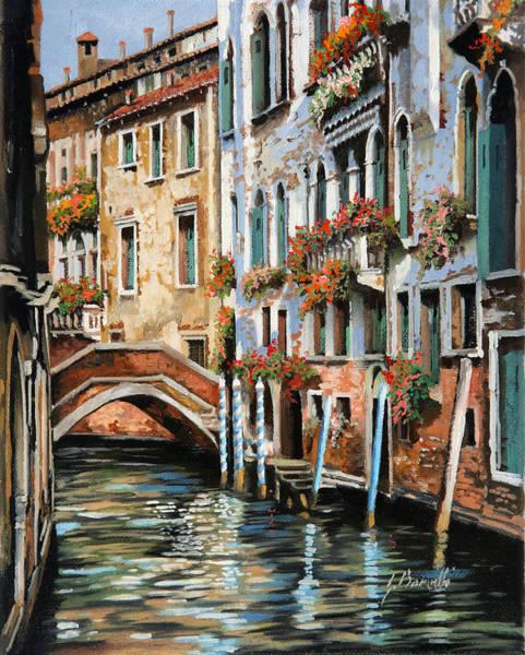 Water Color Painting - Il Ponte E I Pali by Guido Borelli