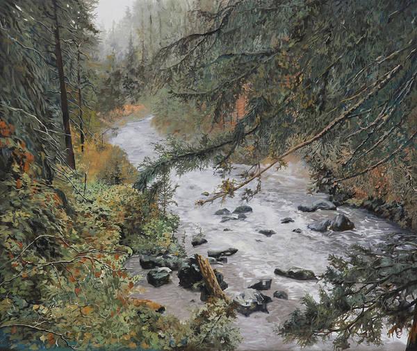 Wet Painting - Il Ruscello Di Montagna by Guido Borelli