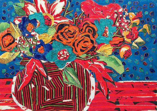 Joyous Mixed Media - Ilana's Flower Arangement by Diane Fine