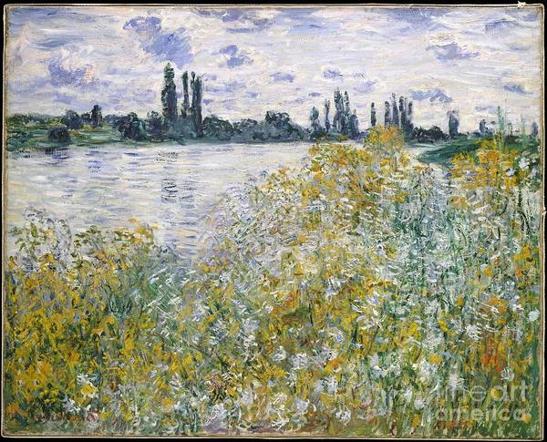 Vetheuil Wall Art - Painting - Ile Aux Fleurs Near Vetheuil by Celestial Images