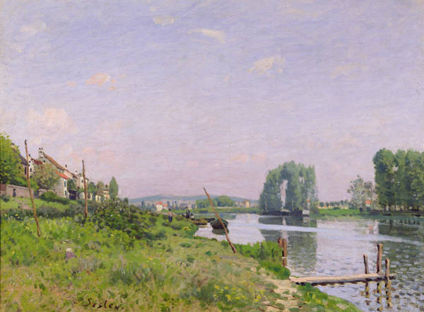 Daylight Painting - Ile Saint Denis by Alfred Sisley