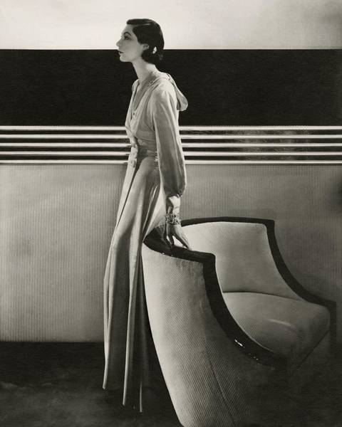 Glamour Photograph - Ilka Chase Wearing Black Starr And Frost-gorham by Edward Steichen