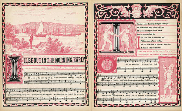 Morning Song Wall Art - Drawing - I'll Be Out In The Morning  Early, I'll by Mary Evans Picture Library