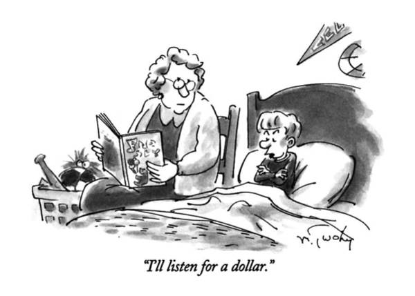 Time Is Money Drawing - I'll Listen For A Dollar by Mike Twohy