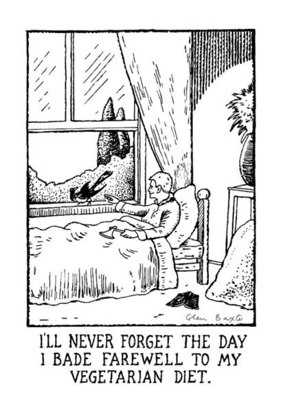 Wall Art - Drawing - I'll Never Forget The Day I Bade Farewell by Glen Baxter