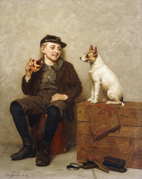 Containers Painting - Ill Share With You by John George Brown