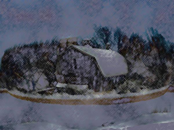 Mixed Media - Illinois Barn Rock Wall by Dennis Buckman