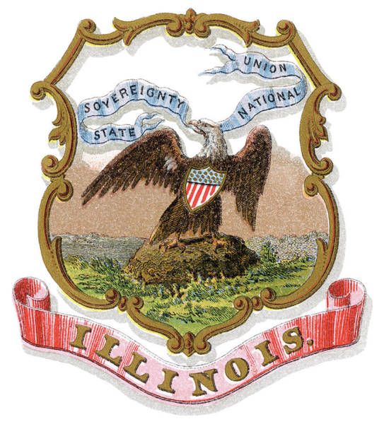 Wall Art - Painting - Illinois Coat Of Arms by Granger