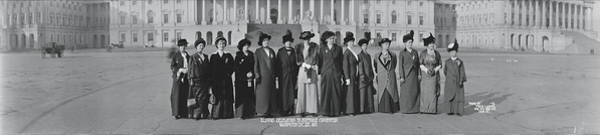 Delegation Photograph - Illinois Delegation To Suffrage by Fred Schutz Collection