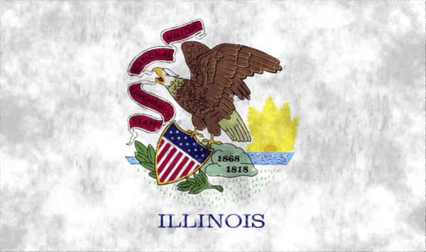 Springfield Illinois Wall Art - Digital Art - Illinois Flag by World Art Prints And Designs