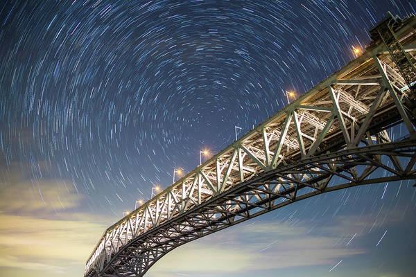 Okayama Prefecture Photograph - Illuminated Bridge by Tdubphoto