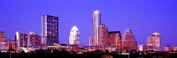 Downtown Austin Photograph - Illuminated Cityscape by Murat Taner