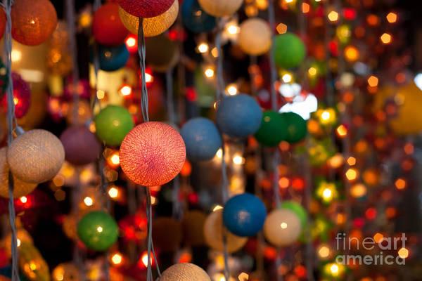Christmass Photograph - Illuminated Decoration  by Fototrav Print