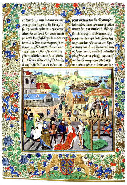 Hands Of Time Photograph - Illuminated Manuscript 1400s by Vintage Images