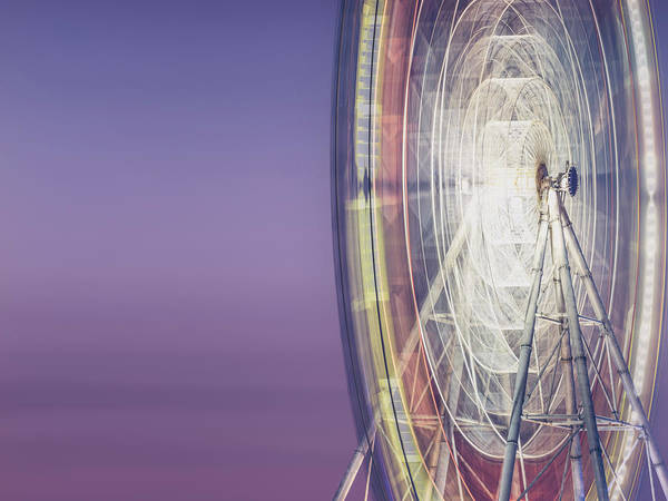 Multi Exposure Photograph - Illuminated Motion Ferris Wheel At by Aaaaimages