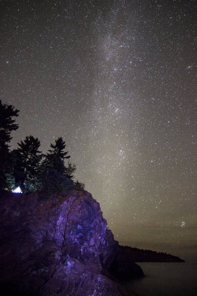 Sleep Photograph - Illuminated Tent // North Shore, Lake Superior by Nicholas Parker
