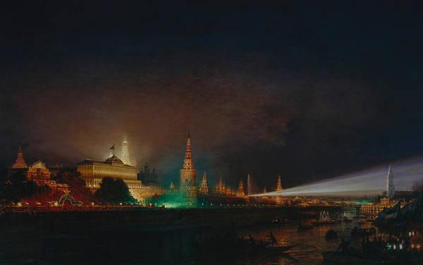 Russian River Painting - Illumination Of The Kremlin by Aleksei Petrovich Bogolyubov