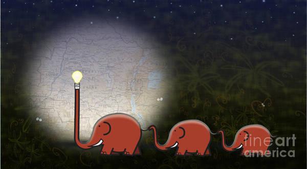 Wildlife Digital Art - Illumination by Sassan Filsoof