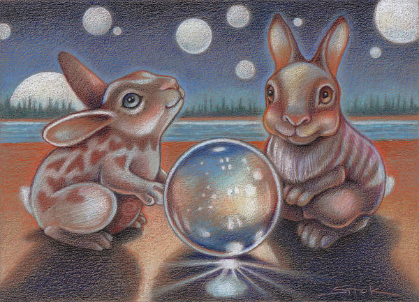 Magical Drawing - Illumination by Susan Helen Strok