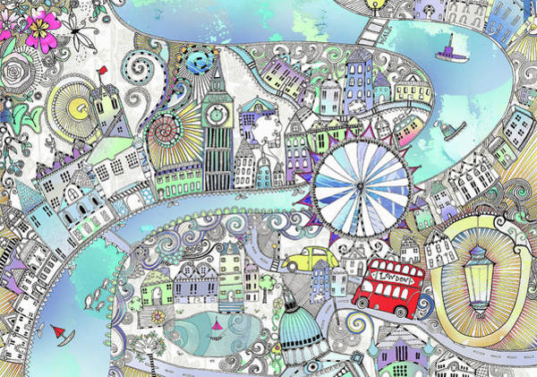 Wall Art - Photograph - Illustrated Map Of London by Ikon Images