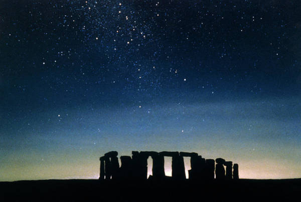 Wall Art - Photograph - Illustration Depicting Star-rise Over Stonehenge by Chris Butler/science Photo Library