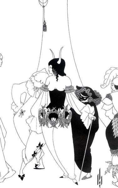 Bare Drawing - Illustration For The Masque Of The Red Death by Aubrey Beardsley