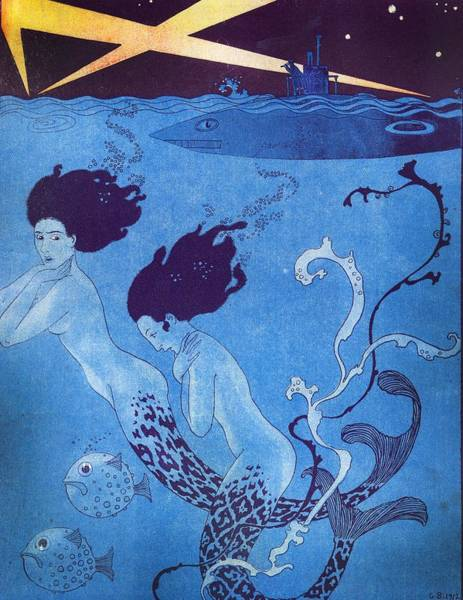 Wall Art - Painting - Illustration From 'la Baionnette' by Georges Barbier