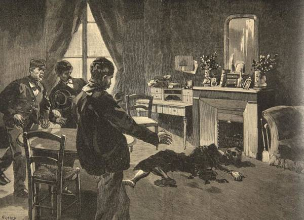 Murder Drawing - Illustration From Le Petit Journal by French School