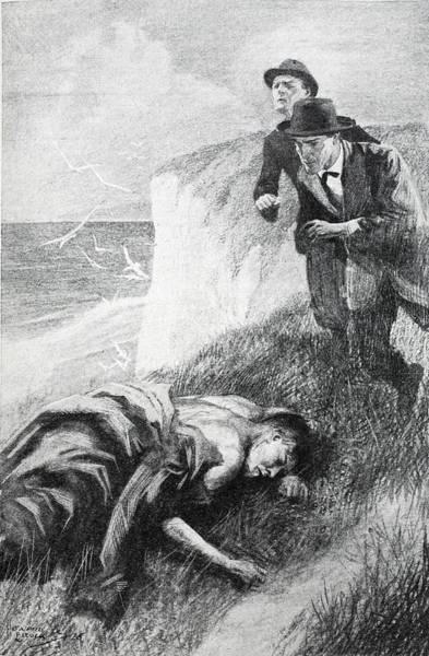 Murder Drawing - Illustration From The Adventure by Howard K. Elcock