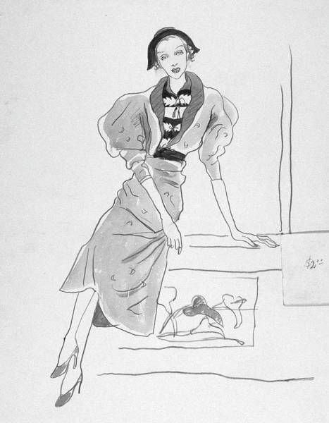 Footwear Digital Art - Illustration Of A Fashionable Woman by Cecil Beaton