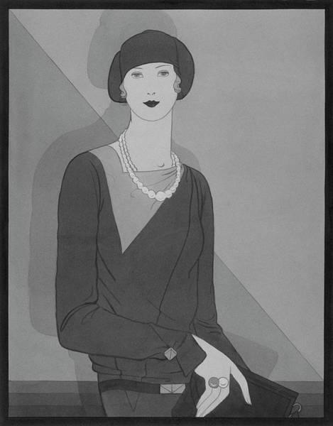 Necklace Digital Art - Illustration Of A Woman by Douglas Pollard