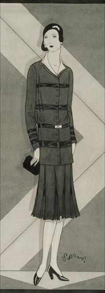 Wall Art - Digital Art - Illustration Of A Woman Wearing A Suit Dress by Douglas Pollard