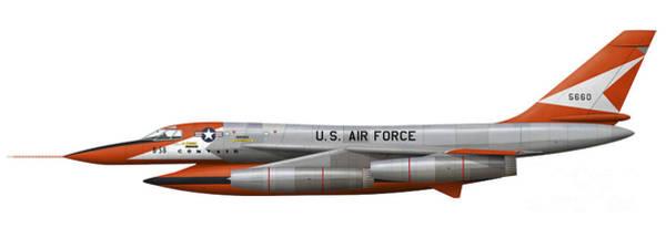 Cutout Digital Art - Illustration Of A Yb-58a-1-cf Hustler by Inkworm