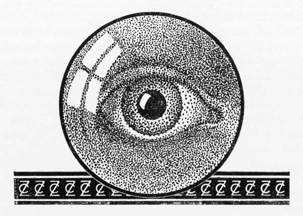Wall Art - Drawing - Illustration Of An Eye, Made by Mary Evans Picture Library