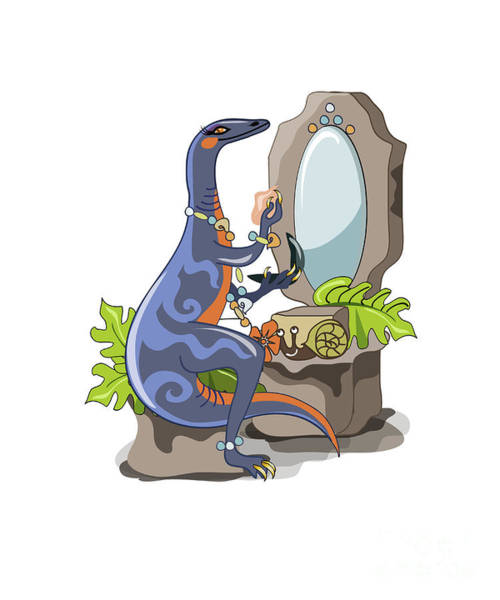 Vanity Digital Art - Illustration Of An Iguanodon Putting by Stocktrek Images