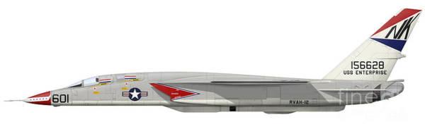 Ra Digital Art - Illustration Of An Ra-5c Vigilante by Inkworm
