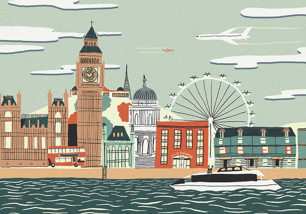 Wall Art - Photograph - Illustration Of Big Ben And London by Ikon Images
