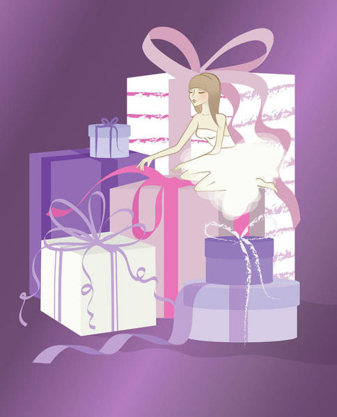 Wall Art - Photograph - Illustration Of Bride Opening Gifts by Fanatic Studio / Science Photo Library