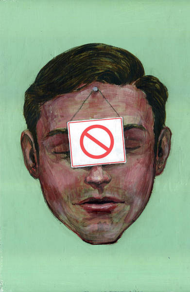 Out Of Business Wall Art - Photograph - Illustration Of Businessman With Do Not Use Sign by Fanatic Studio / Science Photo Library