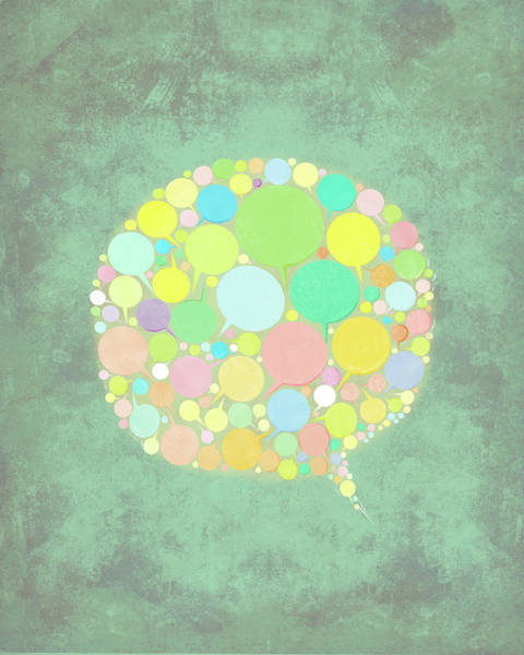 Speech Bubble Wall Art - Photograph - Illustration Of Chat Bubbles by Fanatic Studio / Science Photo Library