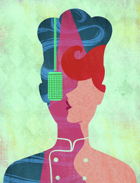 Karaoke Wall Art - Photograph - Illustration Of Chef Singing by Fanatic Studio / Science Photo Library