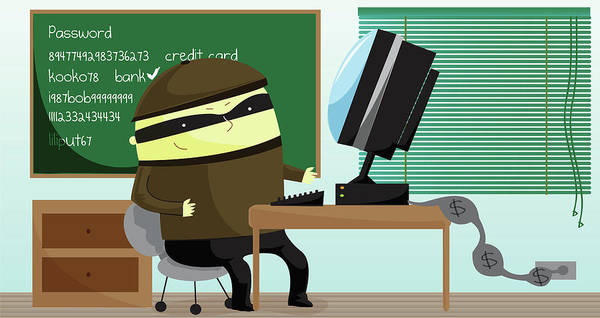 Malware Photograph - Illustration Of Computer Hacker by Fanatic Studio / Science Photo Library
