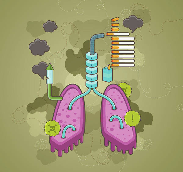 Wall Art - Photograph - Illustration Of Effects Of Smoking On Health by Fanatic Studio / Science Photo Library