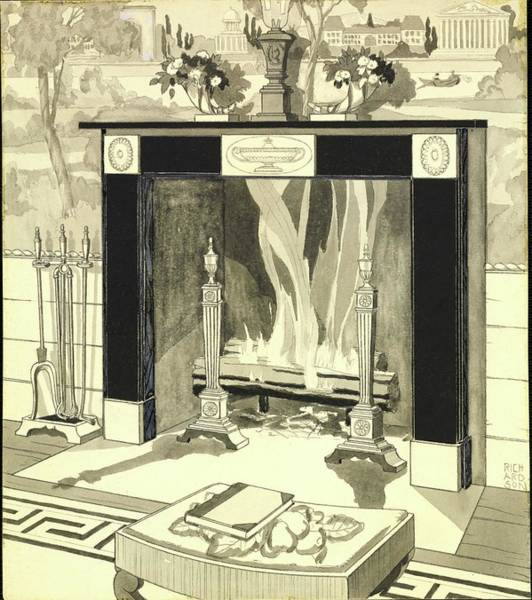 Wall Art - Photograph - Illustration Of Fireplace by Harry Richardson